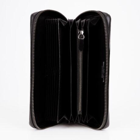 Promo Mitg Long Zipper Wallet Black Inside